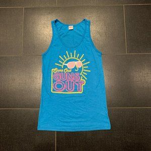 """American Apparel """"Suns Out Guns Out"""" Tank Top"""